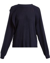 Chloé - Frilled Crew-neck Sweater - Lyst