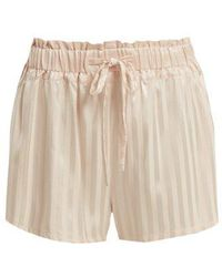 Morgan Lane - - Rickie Silk Pyjama Shorts - Womens - Light Pink - Lyst