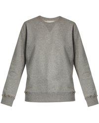 Valentino - Sweat-shirt en coton mélangé Rockstud Untitled #8 - Lyst