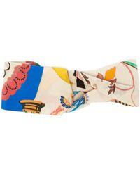 Etro - Floral Print Silk Headband - Lyst