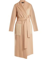 Joseph   Beth Patch-pocket Wool And Cashmere-blend Coat   Lyst