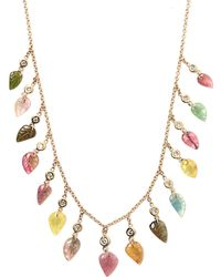 Jacquie Aiche - Diamond, Tourmaline & Gold Necklace - Lyst