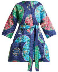Rianna + Nina - Anastasia Folk-print Quilted Silk Jacket - Lyst
