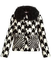 Saks Potts - Lucy Hound's-tooth Shearling Jacket - Lyst
