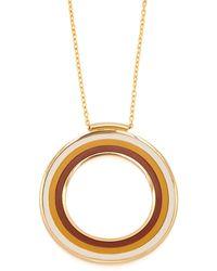 Marni - Striped Circle Pendant Necklace - Lyst