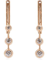 Marie Mas - Diamond, Amethyst, Topaz & 18kt Rose Gold Earrings - Lyst