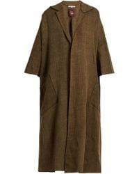 Mafalda Von Hessen - Dropped-shoulder Oversized Linen Coat - Lyst