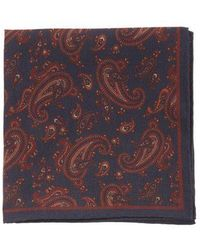 Dunhill - Paisley-print Silk Pocket Square - Lyst