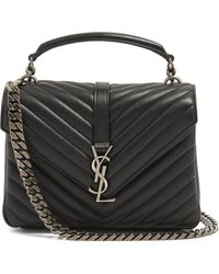 Saint Laurent - Medium Collège Cross-body Bag In Quilted Leather - Lyst