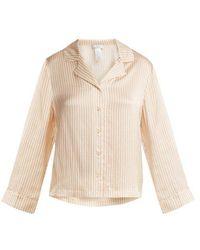 Eres - Riga Striped Seersucker-silk Pyjama Top - Lyst