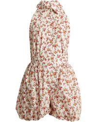 Emilia Wickstead - Miranda Floral Print Playsuit - Lyst
