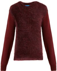 M.i.h Jeans - Dawes Contrast Panel Wool Blend Sweater - Lyst