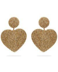 Rebecca de Ravenel - Cora Heart Cord Earrings - Lyst