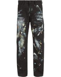 Off-White c/o Virgil Abloh - Carpenter Paint-smudge Jeans - Lyst