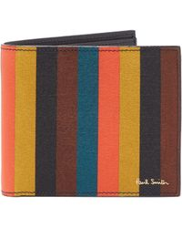 Paul Smith - Striped Leather Wallet - Lyst