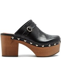 ALEXACHUNG - Perforated Leather Clogs - Lyst