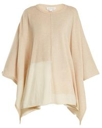 Velvet By Graham & Spencer - Cristen Bi-colour Cashmere Poncho - Lyst