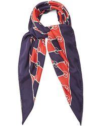 Gucci - Rhombus-print Silk Scarf - Lyst