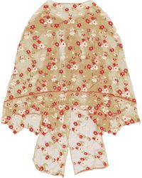 Simone Rocha - Floral Embroidered Tulle Cape - Lyst