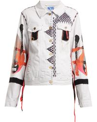 Noki - Hand Painted Denim Jacket - Lyst