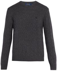 Polo Ralph Lauren - Cable-knit Wool And Cashmere-blend Sweater - Lyst