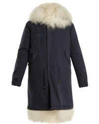 Mr & Mrs Italy - Mongolian-fur Lined Hooded Canvas Parka - Lyst