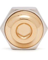 Dunhill - Hex Nut And Bolt 18kt Gold Lapel Pin - Lyst