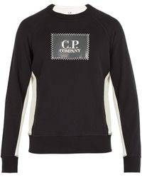 C P Company - Logo-patch Cotton Sweatshirt - Lyst
