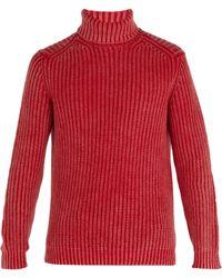 Iris Von Arnim - Newton Stonewashed Ribbed-knit Cashmere Jumper - Lyst