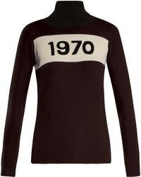 Bella Freud - Pull col roulé en laine 1970 - Lyst