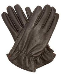 Giorgio Armani - Grained-leather Gloves - Lyst