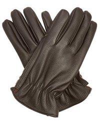 Giorgio Armani - Grained-leather Gloves - Lyst