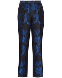 Stella McCartney - Floral Brocade Cropped Trousers - Lyst