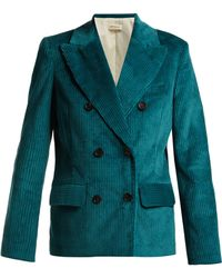 MASSCOB - Lukas Double-breasted Corduroy Blazer - Lyst