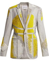 Germanier - Bead Embellished Twill Blazer - Lyst