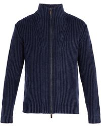 Iris Von Arnim - Lucas High Neck Zip Through Cashmere Cardigan - Lyst