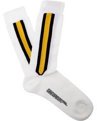 CALVIN KLEIN 205W39NYC - Striped Wool Blend Socks - Lyst