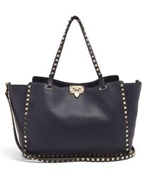 Valentino - Rockstud Medium Leather Tote - Lyst