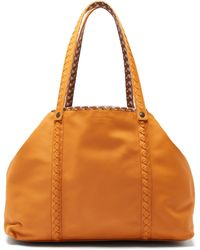 Bottega Veneta - Reversible Butterfly Print Canvas And Leather Tote - Lyst