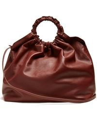 The Row - Double Circle Xl Leather Bag - Lyst