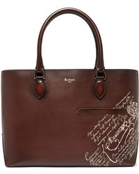 Berluti - Toujours Embossed Leather Tote Bag - Lyst