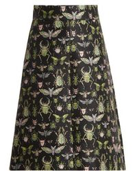 RED Valentino - Bug-jacquard High-rise A-line Skirt - Lyst