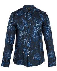 Meng - Floral-print Silk-twill Pyjama Shirt - Lyst