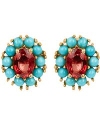 Ileana Makri - Sapphire, Turquoise & Yellow-gold Earrings - Lyst