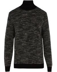 Ermenegildo Zegna - Roll Neck Cashmere Blend Sweater - Lyst