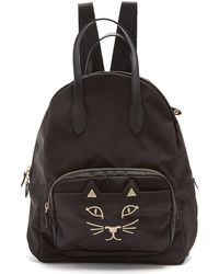 Charlotte Olympia - Purrrfect Kitty Embroidered Backpack - Lyst