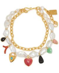 Lizzie Fortunato - Positano Charm Freshwater Pearl Necklace - Lyst