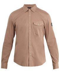 Belstaff - Steadway Single-cuff Stretch-cotton Shirt - Lyst