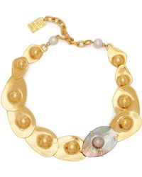 Lizzie Fortunato - Clam Pearl & Gold Plated Necklace - Lyst