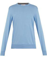 Brunello Cucinelli - Crew-neck Cotton Sweater - Lyst